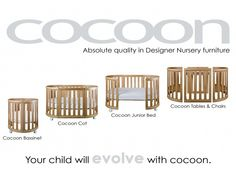 Cocoon Nest Cot - crib converting to a table seems much better than those wobbly full size bed conversions. #baby