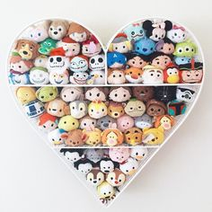 Love these heart shaped shelves for tsums!