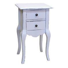 Kleiner Beistelltisch Weiß Im Romantischen Landhausstil, Beistelltische,  Kommode, Landhausmöbel, Vintage Style,