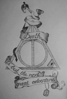 the deathly hallows- Harry Potter!