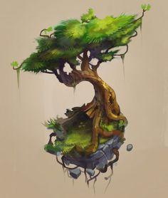 33 Ideas For Game Concept Art Environment Illustrations Fantasy Kunst, Fantasy Art, Vegetal Concept, Drawn Art, Game Concept Art, Environment Concept Art, Fantasy Landscape, 2d Art, Environmental Art