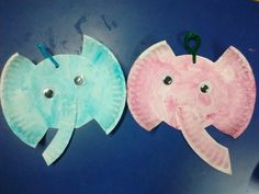 Elephant with paper plate