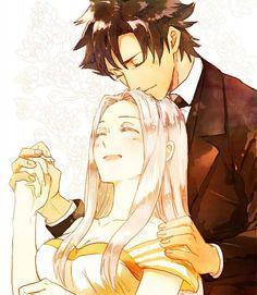 Kiritsugu Emiya and Irisviel von Einzbern Anime: Fate/Zero Manga Couple, Anime Love Couple, Art Anime, Manga Anime, Teen Titans, Fate Zero Kiritsugu, Zero Wallpaper, Scathach Fate, Log Horizon