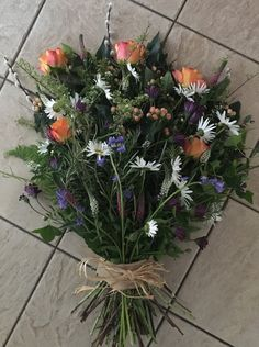 Beautiful garden bouquet for a natural burial via The Bloom Room - Flowers by Sarah