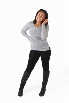 These basic leggings can take you just about anywhere. From yoga, to shopping, to the club, you may never change your pants again. The stretchy fabric is super comfy, and they're finished with an elastic waistband.