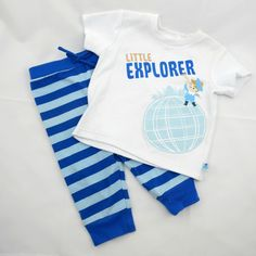 Explore a world of style for Baby with this Disney Baby IT'S A SMALL WORLD tee and pant set.