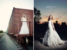 Anna Lee Media, Oklahoma Wedding Photographer, #bridal photos, country, #rustic, #vintage, on location lighting, short lighting, #pose, #creative, beautiful, sunset, wedding dress, drop waist, ruffles, beading, sweetheart top