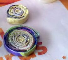 Recycled magazine paper coils TUTORIAL