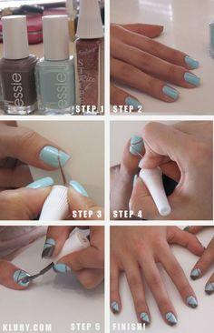 Ballet Slipper Nail Design