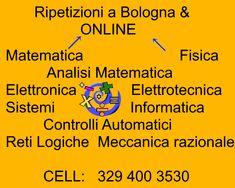 http://www.webalice.it/carlaparmeggiani/index.html  Ripetizioni di matematica, analisi matematica a Bologna e ON LINE. 3294003530