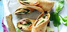 Perfect for lunch or dinner! Spinach, brie, ham and apple butter wrap #BackToRoutine #SchoolNightMeals