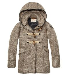 Wool Mix Jacket With Toggle Closure