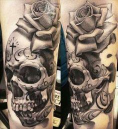... about skulls i like on Pinterest | Skull tattoos Skulls and Grey wash