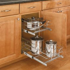 "Rev-A-Shelf 21"" Double Pull-Out Basket Chrome 5WB2-2122-CR  