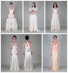 Authentic Vintage Bridal - 1920s Moire Silk Vintage Wedding Dress ...