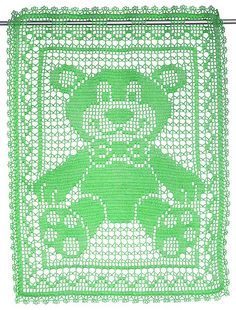 Ravelry: FreddyBear — Small curtain in Filet Crochet pattern by Raphaela Blumenbunt