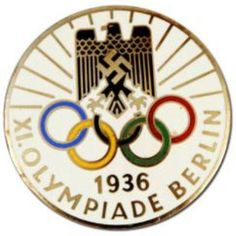 Collecting Olympic pins is a popular hobby, and antique pins such as the famous 1936 Olympic pins are quite valuable. History Of Germany, 1936 Olympics, Popular Hobbies, Logo Branding, Logos, Olympic Games, Berlin, Antiques, 1930s