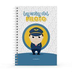 Cuaderno XL - Las notas del piloto, encuentra este producto en nuestra tienda online y personalízalo con un nombre. Notebook, Notebooks, Report Cards, Store, The Notebook, Exercise Book