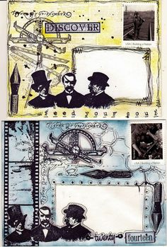 Viva Las VegaStamps!: Mail Art Madness! Today features some of my NEW mail art on the VLVS Blog!!