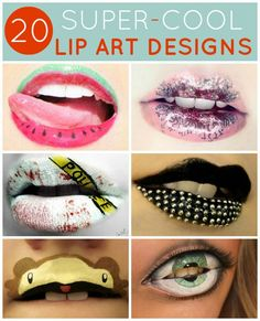 20 Super-Cool Lip Art Designs. Some of my favorite lip art masterpieces!