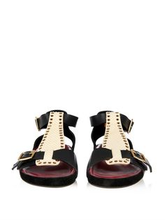 Isabel Marant Layne python-effect leather sandals