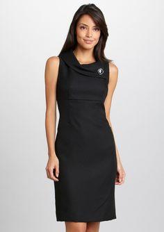 TAHARI ARTHUR S. LEVINE  Sleeveless Crosshatch Detail Dress