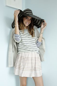 Stripes | Leandra Medine of The Man Repeller from Naomi Shon  #stripes #scoopnyc  www.scoopnyc.com