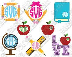Hey, I found this really awesome Etsy listing at https://www.etsy.com/listing/242287874/school-monogram-cutting-file-set-for