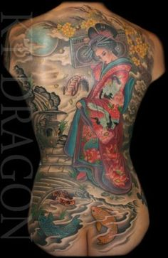 Asian inspired back piece. Amazing