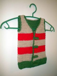 Crocheted Vest with crocheted buttons
