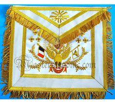 Masonic 33rd Degree Scottish Rite Apron French Style Make A Man, How To Make, Grand Lodge, Masonic Symbols, Freemason, Custom Metal, French Style, Quilts, Blanket