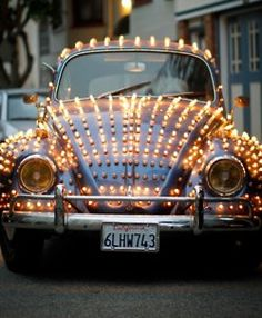 Coccinelle for Christmas | Lights #fusca #bettle