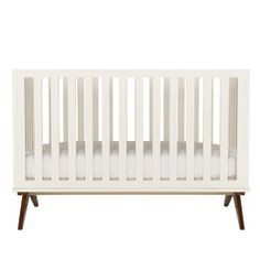 Dwellstudio Norfolk Convertible Crib In White - - White Modern Nursery Contemporary Cribs, Modern Crib, Modern Nursery Decor, Nursery Neutral, Nursery Ideas, Bohemian Nursery, Nursery Décor, Nursery Design, Woodland Nursery