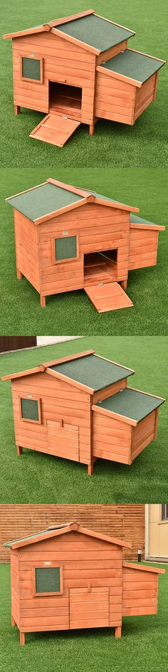 Cages and Enclosure 63108: 45 Wooden Rabbit Hutch Small Animal House Pet Cage Chicken Coop Waterproof BUY IT NOW ONLY: $85.99