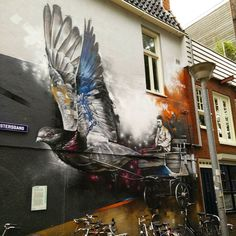 Inkakmoment  Neem me mee en laten we wegvliegen   It's that moment of the day. Take me away and lets fly #monday #love #art #kunst #graffiti #wings #fly #daydreaming #dagdromen #photography #pic #fotografie #foto