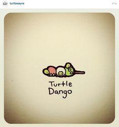 Turtle Dango by Cute Turtle Drawings, Turtle Sketch, Cute Animal Drawings, Kawaii Drawings, Cartoon Drawings, Cute Drawings, Sweet Turtles, Mini Turtles, Cute Turtles
