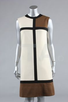 A Simpson of Piccadilly Yves Saint Laurent-inspired Mondrian dress, circa 1965-6.