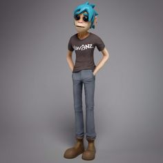 "Model #3 for my upcoming YouTube video. ""3d printing random comments"". #gorillaz #humanz"