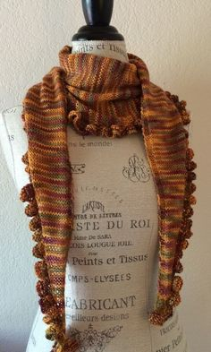 Easy! Katy Ruffled Edge Scarf Free Knitting Pattern (and a one skein project)