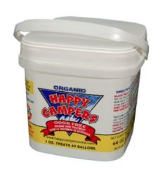 Happy Campers Organic RV Holding Tank Treatment - large tub, 64 treatments for RV, Marine, Camping, Portable Toilets - Show features and short description for.
