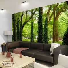 Green Forest Nature Landscape Wall Paper Wall Print Decal Home Decor wall Mural in Home & Garden, Home Improvement, Building & Hardware | eBay