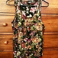 NWT Floral Blouse The top layer is sheer but has a lining that's solid. It's a gorgeous top! a.n.a Tops Blouses