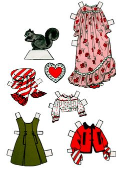 Penny and Frisky Paper Dolls | 2 of 2  ><><><><>< Paper Doll is on this board in one sheet.