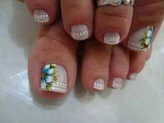 Nails design for toe Pedicure Nail Art, Pedicure Designs, Toe Nail Art, Cute Toe Nails, Love Nails, Toe Nail Designs, Nail Polish Designs, Nails Design, Fabulous Nails