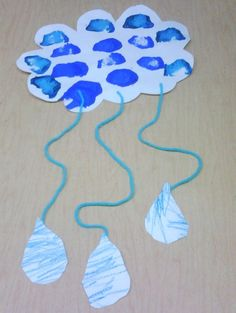 New craft spring kids april showers ideas Kids Crafts, Daycare Crafts, Summer Crafts, Toddler Crafts, Projects For Kids, Arts And Crafts, Preschool Weather, Weather Crafts, Preschool Crafts
