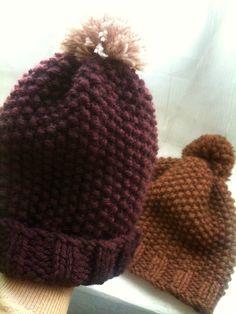Tuto-dop in rijststeek patterns de tricot de tejer di maglieria modelleri Bonnet Crochet, Crochet Wool, Wooly Hats, Knitted Hats, Sombrero A Crochet, Beret, Cupcakes, Knitwear, Knitting Patterns