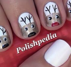Cute I would do - the 8 Reindeer + Rudolph  then Santa on the last nail