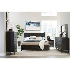 Modern Black 4 Piece Queen Bedroom Set   Thomas