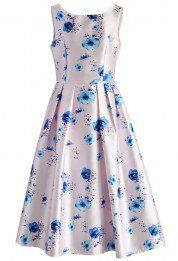 Pastel Symphony Floral Prom Dress