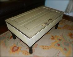 old farmhouse door storage coffee table.
